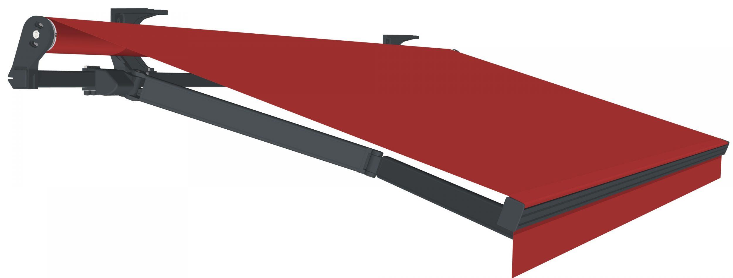 offene Gelenkarmmarkise rot - (C) Reflexa